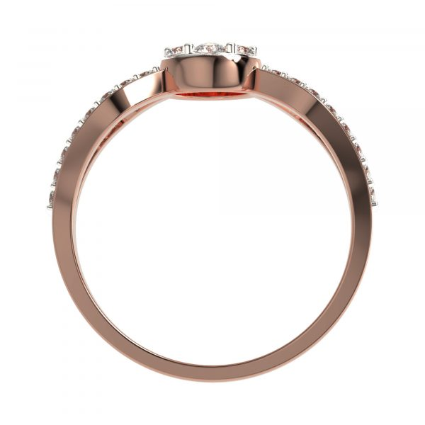 Rose Gold Small Diamond Ring