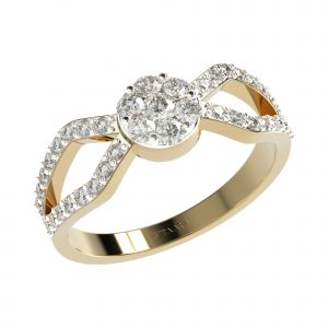 Yellow Gold Small Diamond Ring