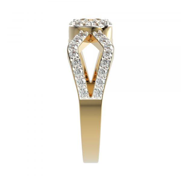 Yellow Gold Small Diamond Ring