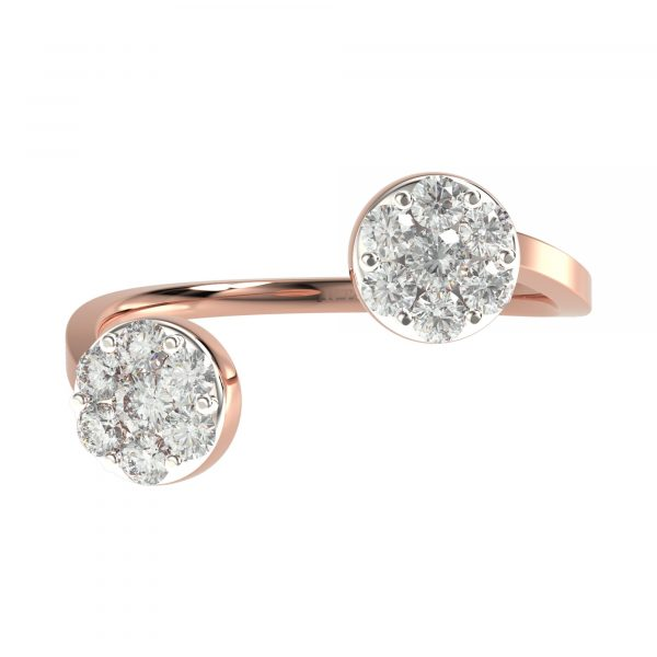 Rose Gold Latest Diamond Ring Design