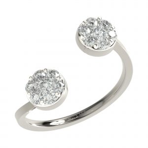White Gold Latest Diamond Ring Design