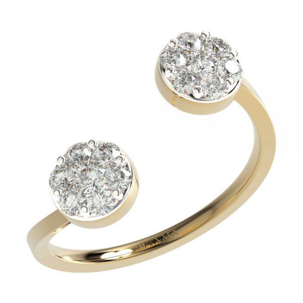 Yellow Gold Latest Diamond Ring Design