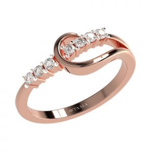 Rose Gold Loop Ring