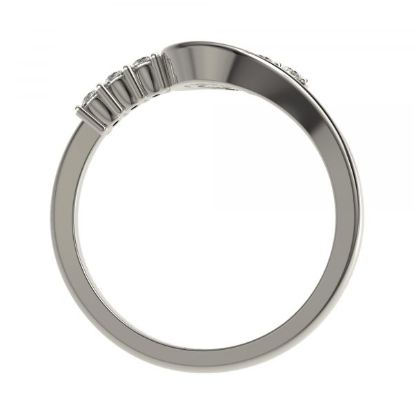 White Gold Loop Ring