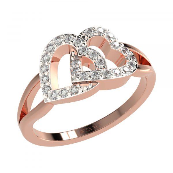 Rose Gold Unique Ring Design
