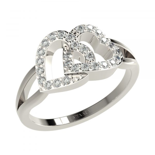 White Gold Unique Ring Design