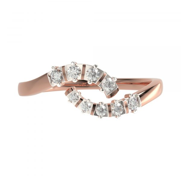 Rose Gold Fancy Diamond Ring