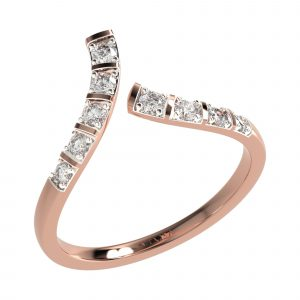 Rose Gold Cocktail Diamond Ring