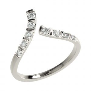 White Gold Cocktail Diamond Ring