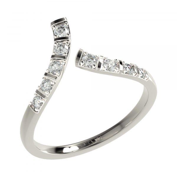 White Gold Cocktail Diamond Ring