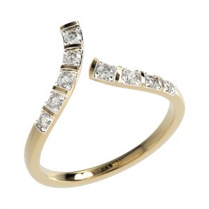 Yellow Gold Cocktail Diamond Ring