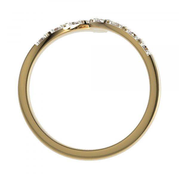 Yellow Gold Cocktail Diamond Ring