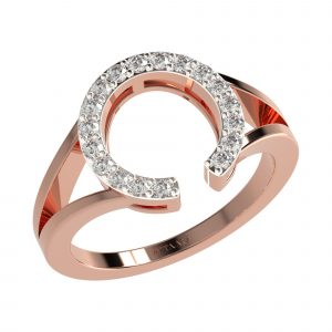 Rose Gold Wedding Diamond Bands