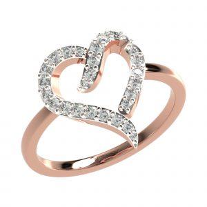 Rose Gold Heart Shape Ring