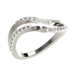 White Gold Indian Diamond Ring