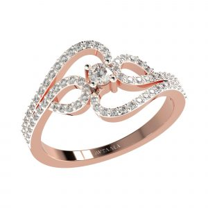 Rose Gold Diamond Ring For Women