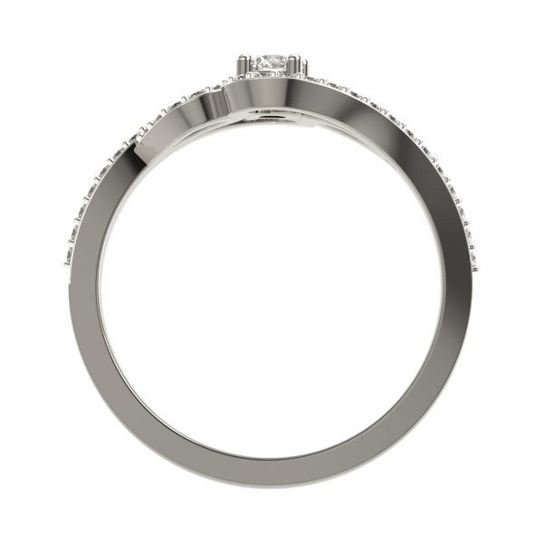 White Gold Diamond Ring For Women