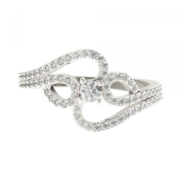 White Gold Diamond Ring For Women