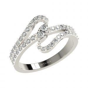White Gold Designer Diamond Ring
