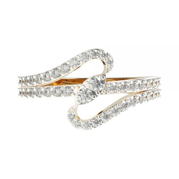 Yellow Gold Designer Diamond Ring