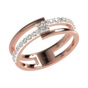 Rose Gold Modern Ring