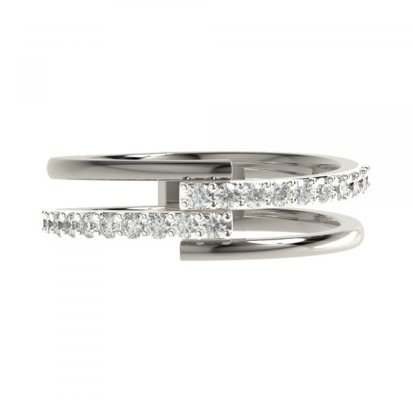 White Gold Modern Ring