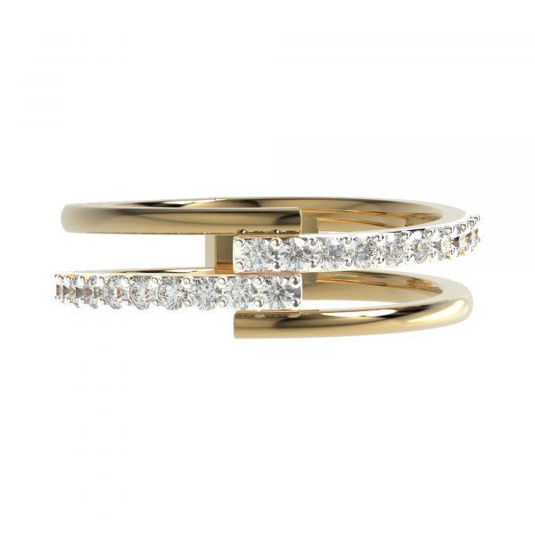Yellow Gold Modern Ring