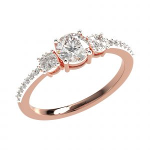 Rose Gold Classic Diamond Ring