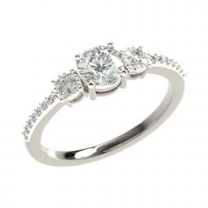 White Gold Classic Diamond Ring