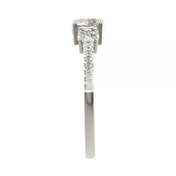 White Gold Classic Diamond Ring