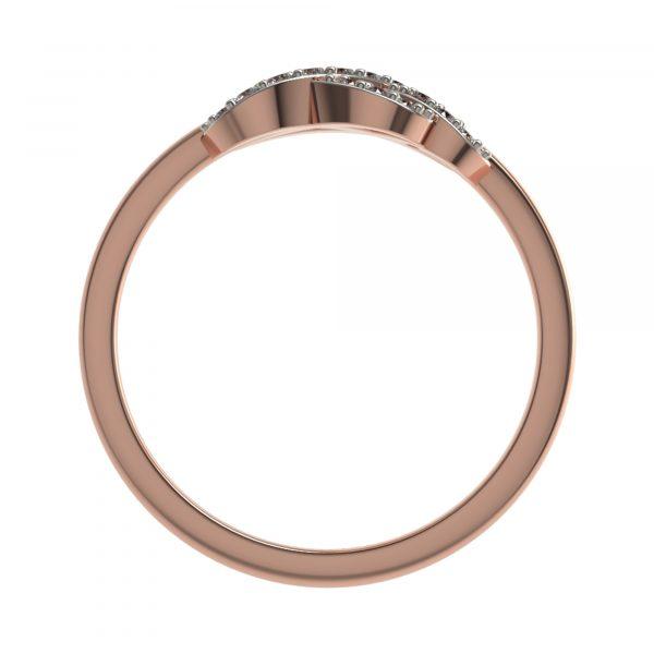 Rose Gold Infinity Diamond Ring