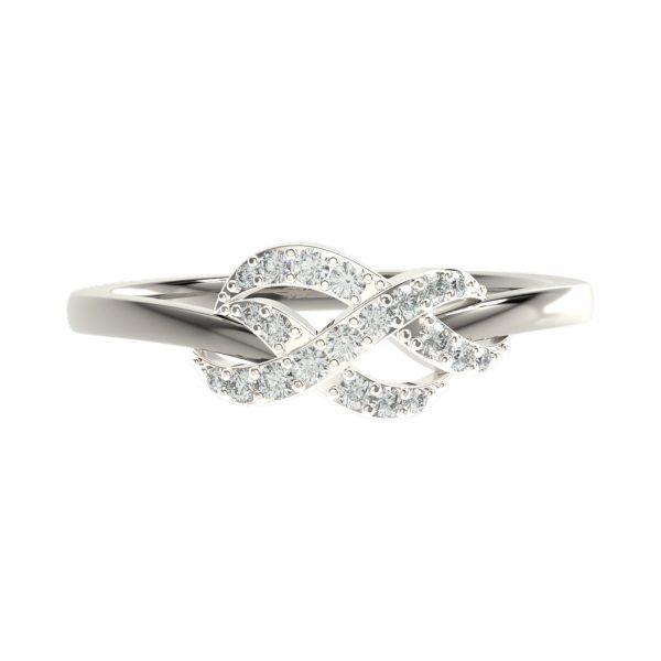 White Gold Infinity Diamond Ring