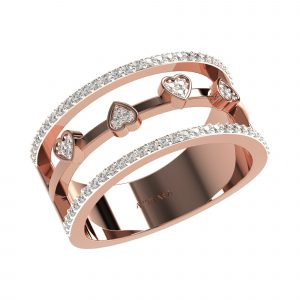Rose Gold Fashionable Diamond Rings