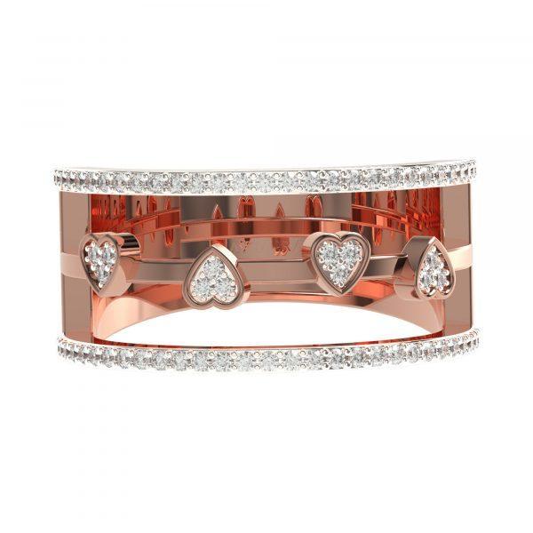 Rose Gold Fashionable Diamond Rings