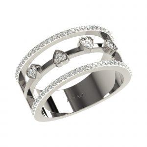 White Gold Fashionable Diamond Rings