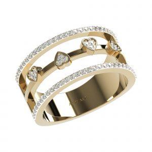 Yellow Gold Fashionable Diamond Rings