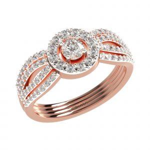 Rose Gold Big Diamond Ring