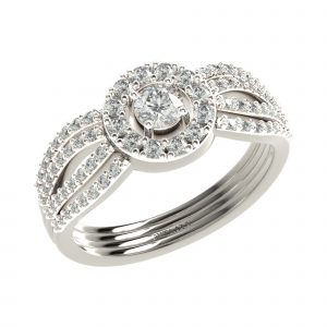 White Gold Big Diamond Ring