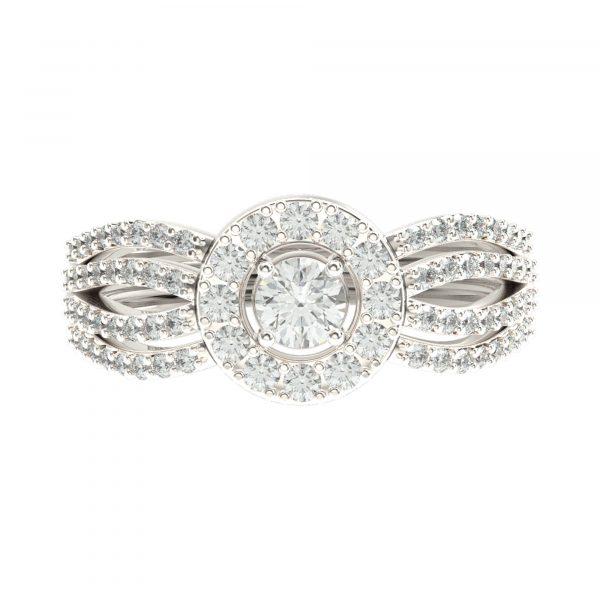 White Gold Big Diamond Ring