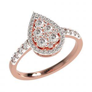 Rose Gold Tear Drop Ring