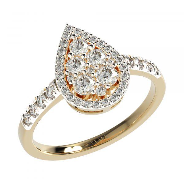 Yellow Gold Teardrop Ring