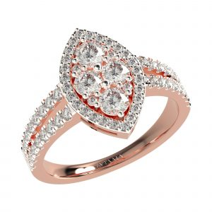 Rose Gold Simple Diamond Rings