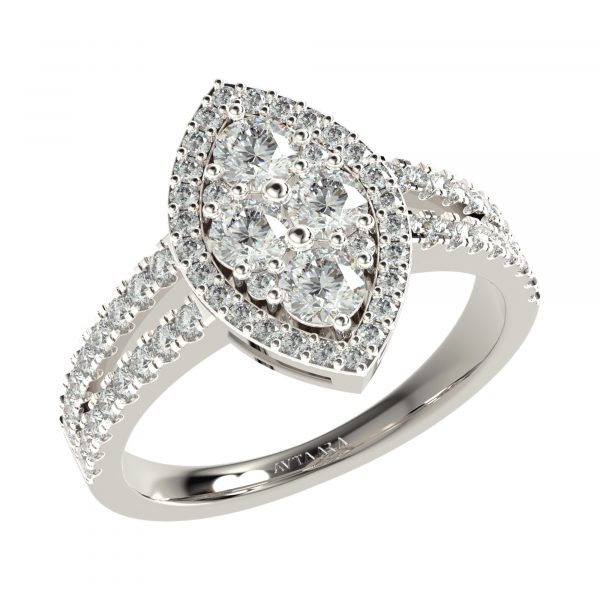 White Gold Simple Diamond Rings