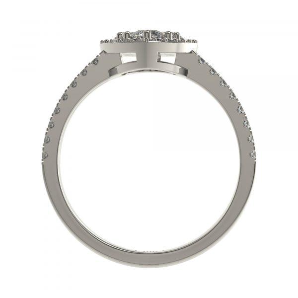 White Gold Simple Diamond Rings