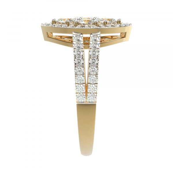 Yellow Gold Simple Diamond Ring