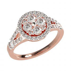 Diamond Studded Rose Gold Ring