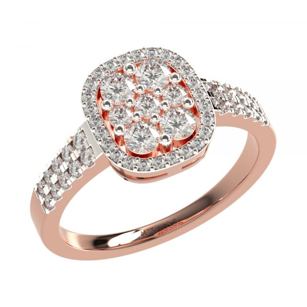 Rose Gold diamond Engagement Rings