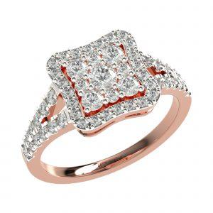 Rose Gold Stylish Engagement Ring
