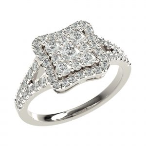 White Gold Stylish Engagement Ring