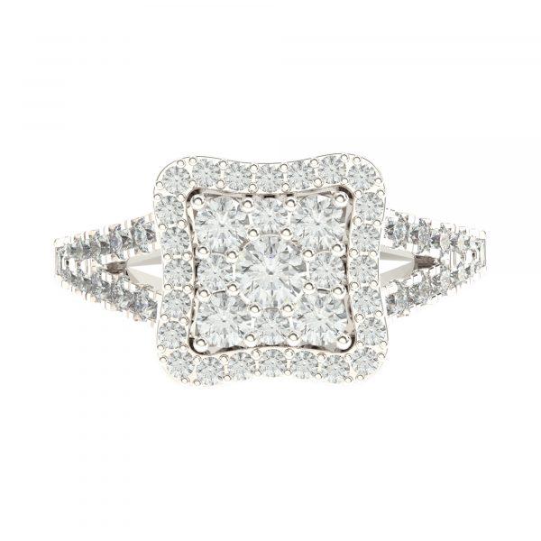 White Gold Stylish Engagement Ring
